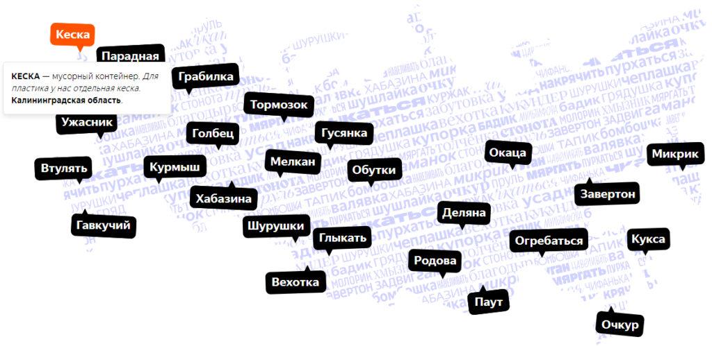 как говорят в разных регионах
